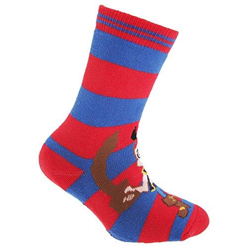 Disney Jake & The Neverland Pirates Official Childrens/Kids Slipper Socks (UK Child 3-5.5, EUR 19-22, Pink/Blue) ()