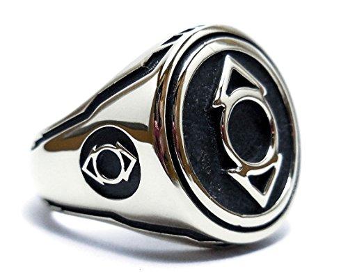 925 Sterling Silver Agent Indigo Tribe (Compassion) Lantern ring, Green Lantern ring, Sinestro Corps Tribe Lantern, Silver rings