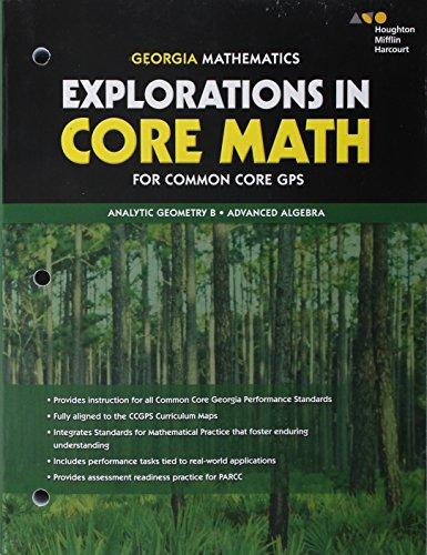 Holt McDougal Accelerated Analytic Geometry B/Advanced Algebra Georgia: Student Workbook Analytic Geometry B/Advanced Algebra