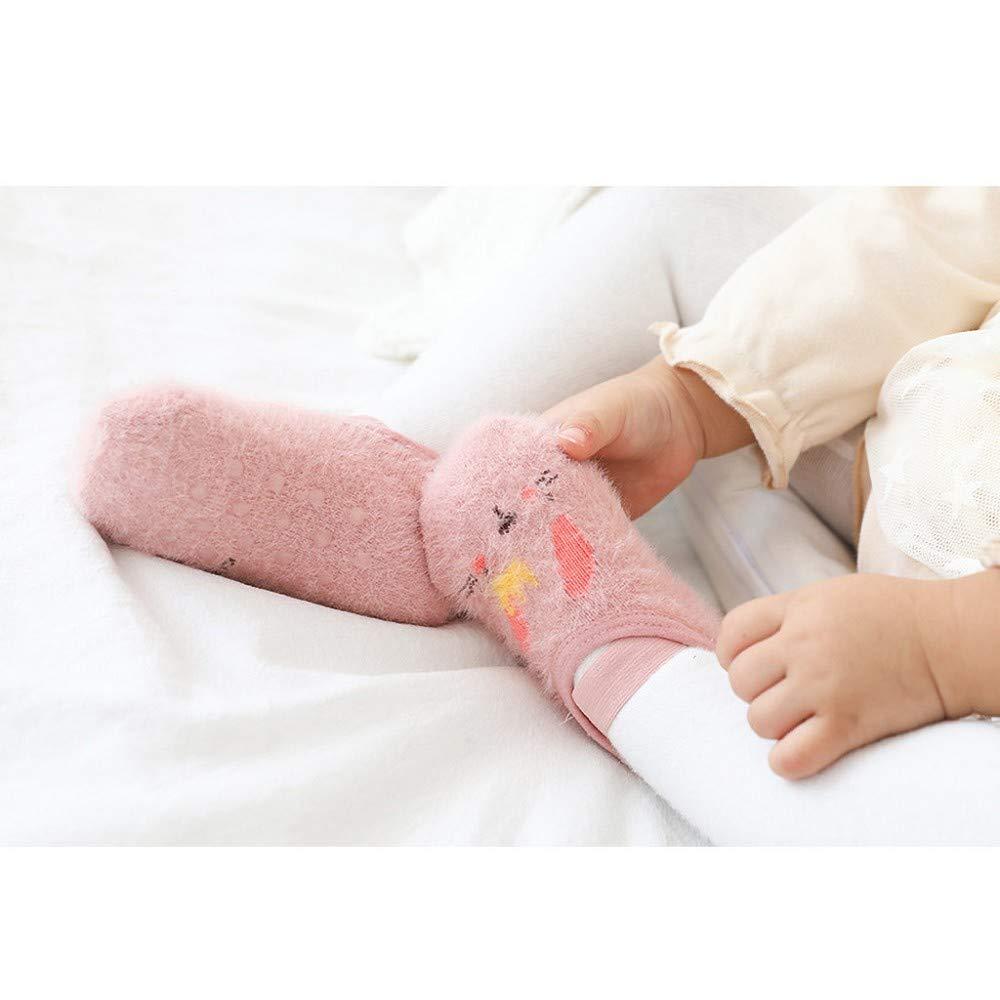 ZEZKT 3 pares calcetines termicos para beb/é ni/ño ni/ña oto/ño//invierno nuevos calcetines de piso para bebe calcetines antideslizantes para caminar dibujos animados calcetines