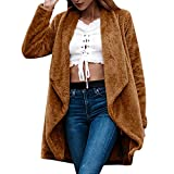 Fall Winter Blouse,Morecome Women's Long Sleeve Solid Color Plush Cardigan Jacket
