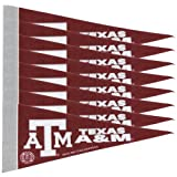 Rico NCAA Texas A&M 8 Pc Mini Pennant Pack Sports Fan Home Decor, Multicolor, One Size