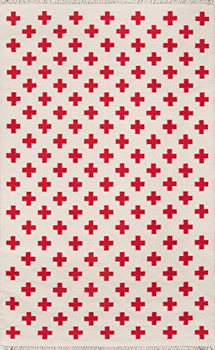 Novogratz by Momeni TOPANTOP-1IVY3656 Topanga Lucille Flat Weave Area Rug, 3'6