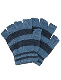 CTM® Toddler Stretch Striped Fingerless Gloves, Grey