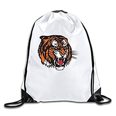 MEDICINE HAT TIGERS Lightweight Drawstring Tote Canvas Backpack