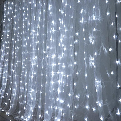 (Efavormart 20 ft x 10 ft LED Lights Organza Backdrop Curtain Photography Background Organza Fabric Photo Studio Background - White)
