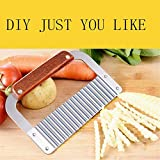DD-life Stainless Steel Wavy Soap Cutter Soap Making Tools Hardwood Handle Pro. Supply
