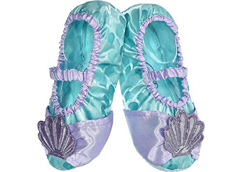 Suit Yourself Ariel Slipper Shoes for Kids, The Little Mermaid Halloween Accessories, One Size (Children Shoe Size -