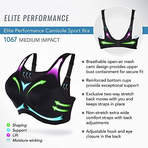 db3bfdf19f784 Glamorise Women s Plus Size Camisole Sport Bra