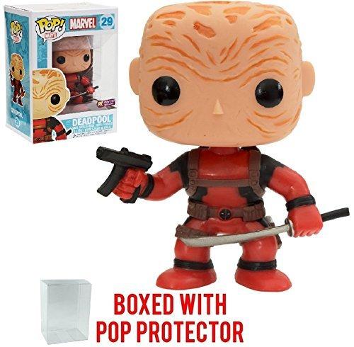 Funko Pop! Marvel Heroes: Unmasked Deadpool #29 Previews Exclusive Vinyl Figure (Bundled with Pop Box Protector Case)