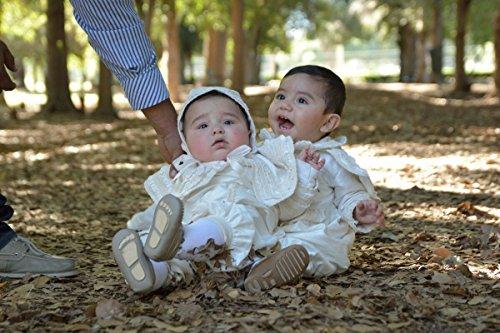 Heirloom Baby Boy's Christening Baptism Gown, Hand Made Ivory (Burbvus Ropones) by Burbvus (Image #6)