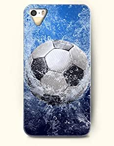 OOFIT Phone Case design with Dynamic Soccer and Waterdrops for Apple iPhone 5 5s 5g