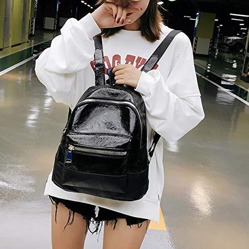 elaborazione sacchetto adolescenti zaini sacchetto delle di Mini di Black cuoio chiusura donne di del per spalla la della delle di lampo ragazze corsa dell'unità casuale scuola faAqAX1
