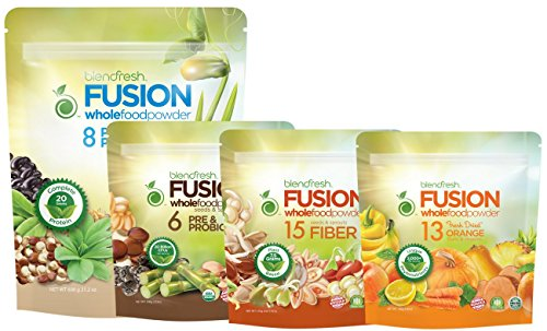 Plant-Based Healthy Gut Pack SAVE $11. Plant-based Protein, Pre&Probiotic, Fiber and Orange Fruits & Veggie Whole Food Powder. And a FREE 20 page Lifestyle Magazine. By Blendfresh. by Blendfresh