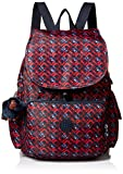 Kipling Women's Ravier Medium Solid Backpack, Groovy Lines