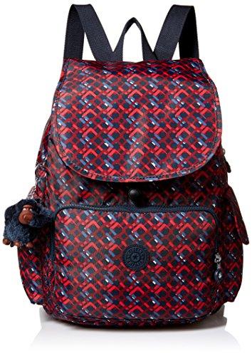 Kipling Women's Ravier Medium Solid Backpack, Groovy Lines by Kipling
