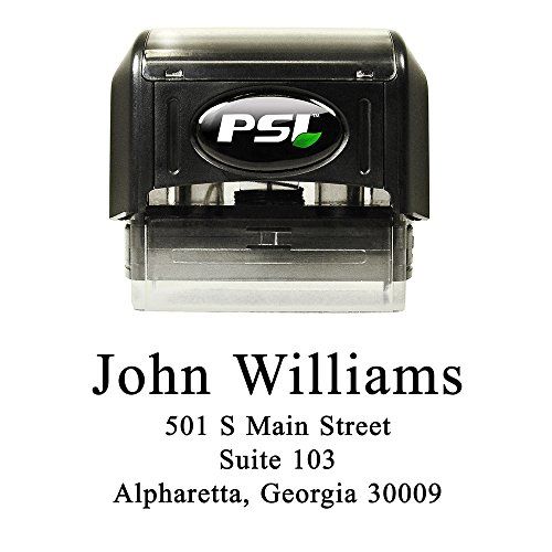 - Personalized Self Inking Return Address Stamp, Black Ink, Simply Serif