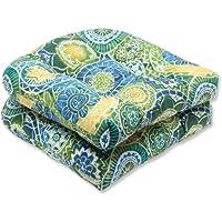 Pillow Perfect Outdoor Omnia Lagoon Wicker Seat Cushion,...