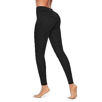 FYrainbow Gimnasios Deportes Medias, señoras Yoga Pantalones ...