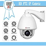 IMPORX CCTV Auto Tracking PTZ IP Camera - 20X Optical Zoom 1080P Full HD Camera - ONVIF High Speed Outdoor Camera, Support SD Card and POE, 500ft(150M) IR Distance, with Fan Heater and Wiper