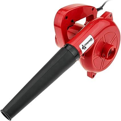 PrimeMatik - Soplador Aspirador eléctrico portátil de 600 W para Hojas Polvo Suciedad