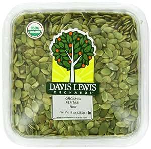 Davis Lewis Orchards Organic Raw Pepitas, 9 Ounce