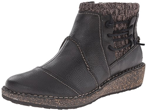 Aetrex Women's Tessa Short Sweater Boot, Black, 37 EU/7 M US