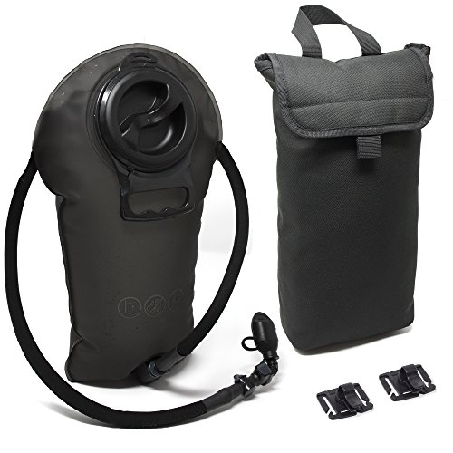 Diaz Sport 3L Hydration Pack Water Bladder Reservoir - Includes Insulated Cooler Bag & Free Clips to Hold Drinking Tube - Tasteless, Leakproof, TPU, BPA-Free, Quick Release & Shutoff - System Hydration