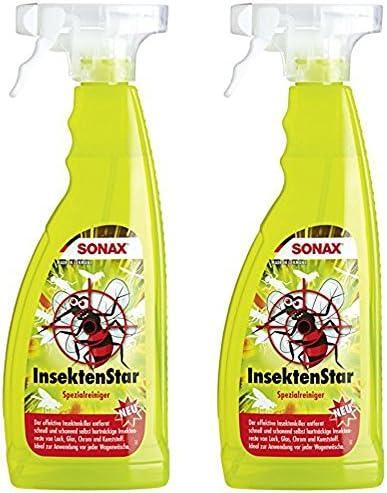 2x 750ml Sonax Insektenstar Insektenentferner Spezialreiniger Insekten Entferner Auto