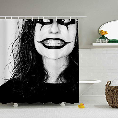 (offtggh Shower Curtain with Hooks 70 x 80 Inch, Creepy Halloween)