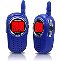 Kids Walkie Talkies , 22 Channel FRS/GMRS Walkie Talkie 2 Way Radio 3 Miles UHF Walkie Talkies (1 Pair) Blue