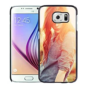 New Fashion Custom Designed Skin Case For Samsung Galaxy S6 Phone Case With Fashion Girl Sunlight Phone Case Cover