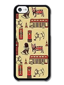 MMZ DIY PHONE CASEBritish Pug Pattern London Big Bang case for iphone 6 plus 5.5 inch