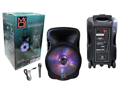 """Mr. Dj DJ12BTA 12"""" 2000W Max Power Speaker with Built-In Blu"""