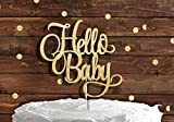 HELLO BABY Gold Glitter Cake Topper Baby Shower New Party Boy Girl Welcome Home