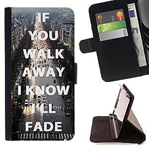 Dragon Case - FOR Sony Xperia Z3 D6603 - keep me in your heart - Caja de la carpeta del caso en folio de cuero del tir¨®n de la cubierta protectora Shell