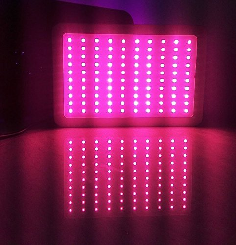 Anjeet 300W LED Panel Grow Light Hydroponic System Full Spectrum For Indoor Plant Veg and Flower Replace HPS Lamp