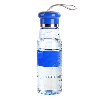 BESTONZON Bouteille d'eau extérieure étanche pour Camping, Yoga Gym, non toxique, 600ml, bleu