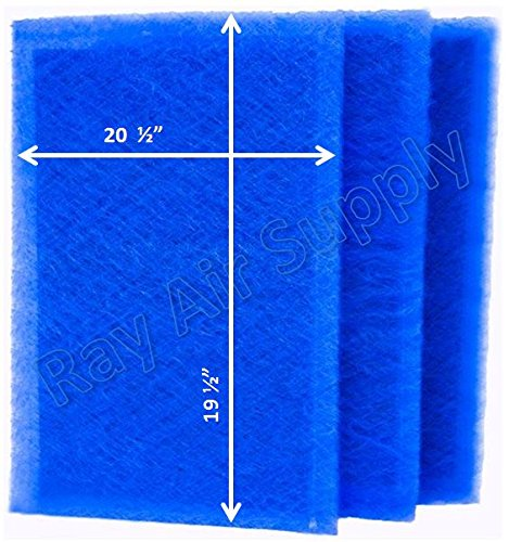 RAYAIR SUPPLY 22x22 Dynamic Air Cleaner Replacement Filter Pads 22 x 22 Refills (3 Pack)