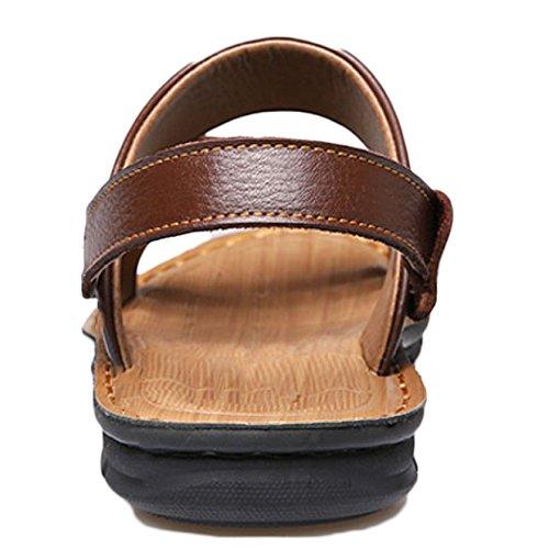 Libre Hombres Cuero Sandalias Al Zapatos De Black Verano Zapatillas De De Playa De Sandalias De para Sandalias Aire Playa Moda Zapatos Y5qxwOAa