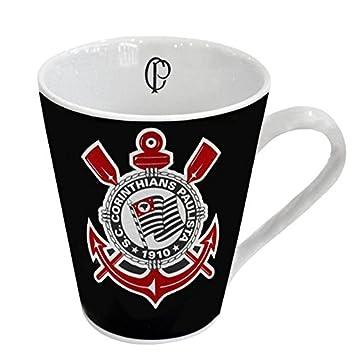 Caneca Porcelana Corinthians Times de Futebol Preto Branco  Amazon ... 0c0fa62ffa2f1