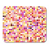 Boszina Mouse Pads Border Back Abstract Geometric Colorful Pattern for Fills Backcloth Color Mouse Pad for notebooks,Desktop Computers mats 9.5'' x 7.9'' Office Supplies