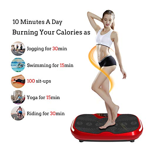 Murtisol 3D Vibration Platform Power Plate with Dual Motor - Whole Body Fitness Vibration Platform Machine with LED Touch Screen,Bluetooth Music,Remote Control & Resistance Bands & LED Light by Murtisol (Image #9)