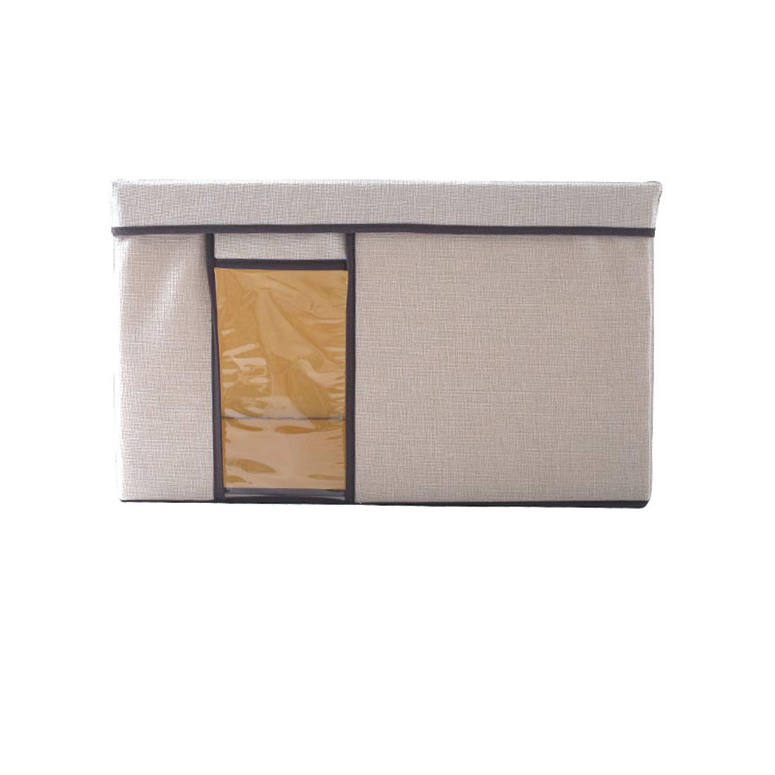 MHKBD-JP服キルト収納ボックスパースペクティブウィンドウ宝箱洗える家庭用模造リネン収納ボックス事務用品書籍雑貨玩具収納ボックス 収納ケース (色 : Apricot Small) B07T63LJH7 Apricot Small