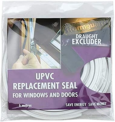 Junta recambio universal de PVC, para ajustar ventanas y puertas, Universal, 6 m Blanco: Amazon.es: Bricolaje y herramientas