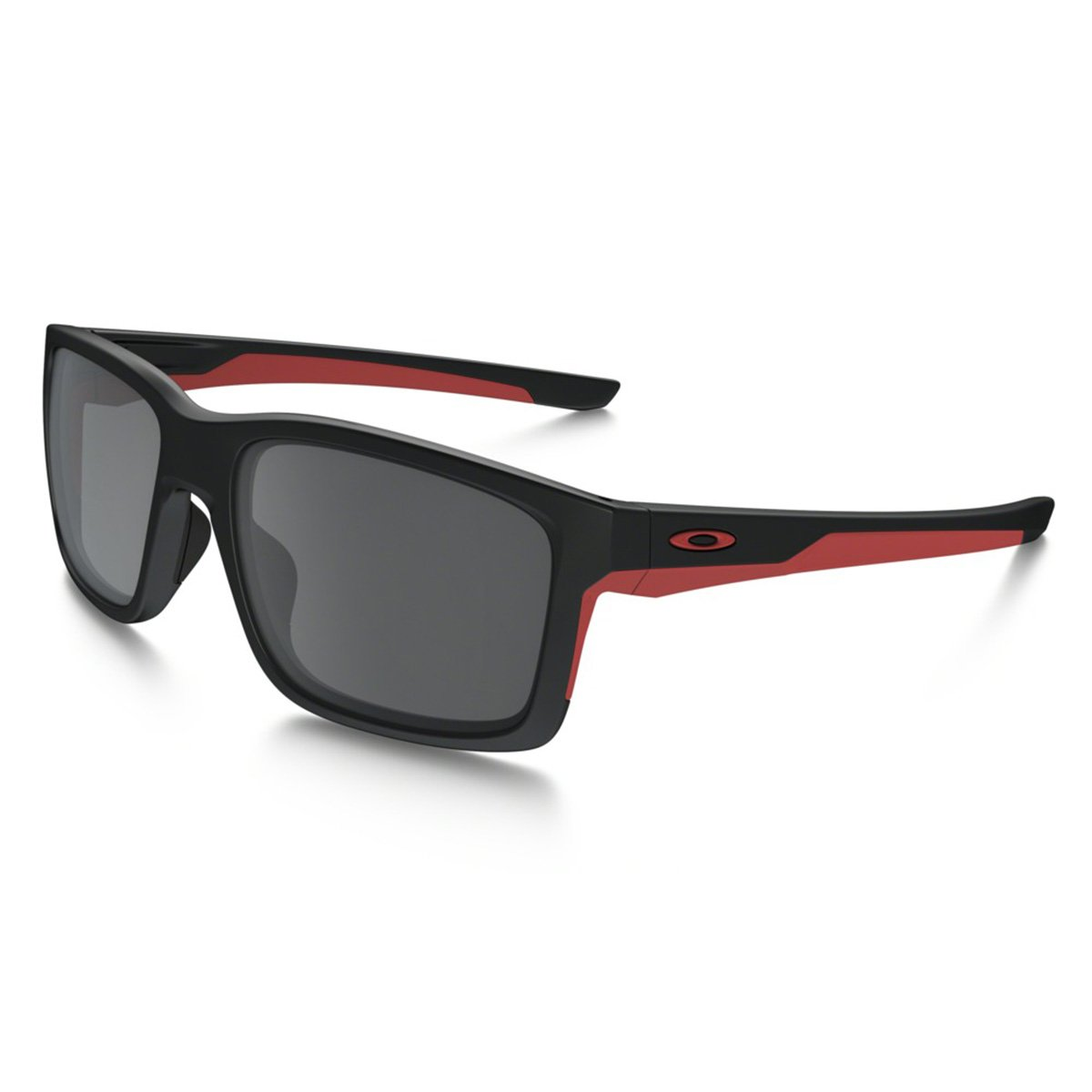Oakley Men's Mainlink Non-Polarized Iridium Rectangular Sunglasses, MATTE BLACK, 57.01 mm