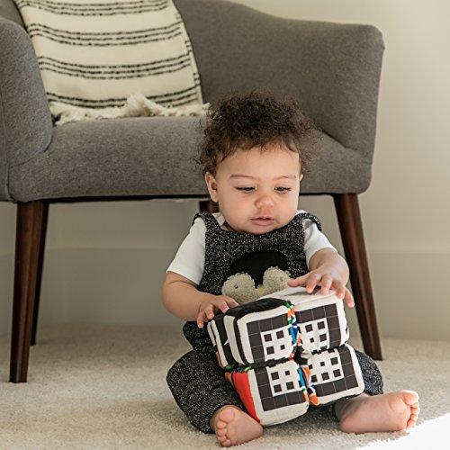 51dFp1lmigL - Baby Einstein Infinity Block High Contrast Soft Block Toy, Newborns and up
