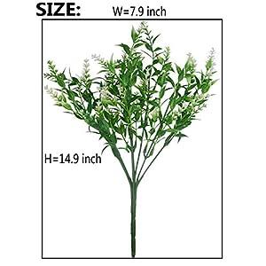 JWCTECH Artificial Plants Flowers Artificial Plants Greenery Artificial Flowers 16