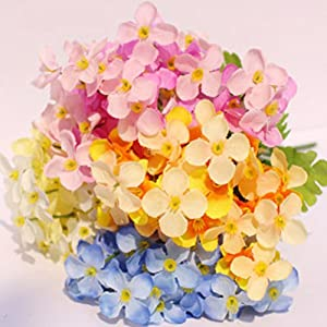 1Pc 18 Head Artificial Mini Primrose Flowers Simulation Bouquet Fake Flower Arrangements for Home Wedding Decoration (Pink) 2