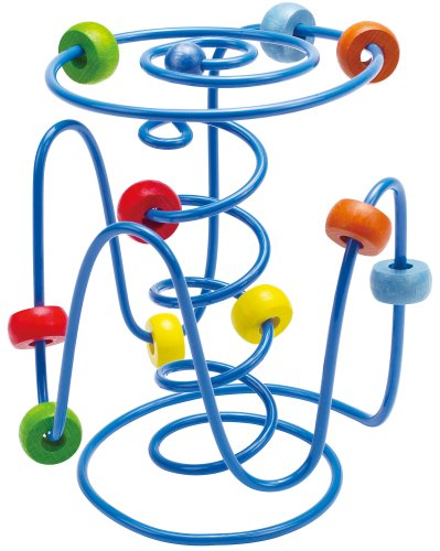Hape - Spring-a-Ling Wooden Bead Maze